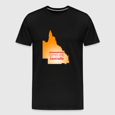 map of Queensland - Men's Premium T-Shirt