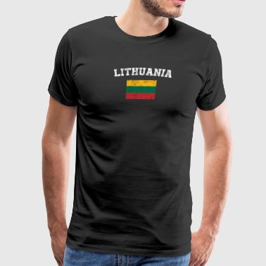 Lithuanian Flag Shirt - Vintage Lithuania T-Shirt - Men's Premium T-Shirt