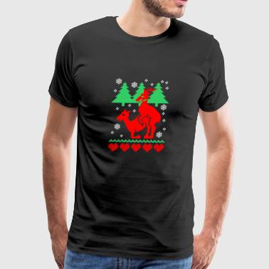 Ugly Christmas Humping Reindeer - Men's Premium T-Shirt