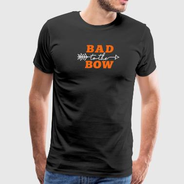 Bad to the Bow (Ladies) (Archery by BOWTIQUE) - Men's Premium T-Shirt