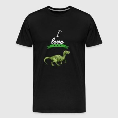I love Dinosaur gift - Men's Premium T-Shirt