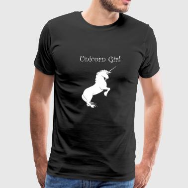 Unicorn girl - unicorn tee shirt gift - Men's Premium T-Shirt