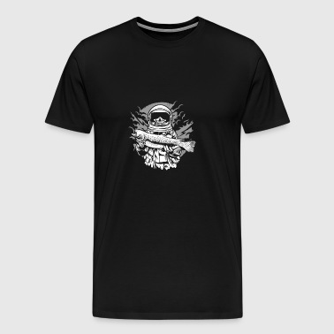 The dead astronaut catches the fish. - Men's Premium T-Shirt