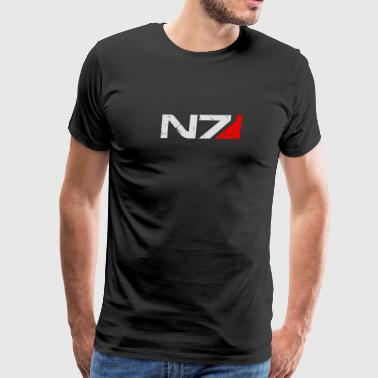 N7 Cracked Logo - Men's Premium T-Shirt