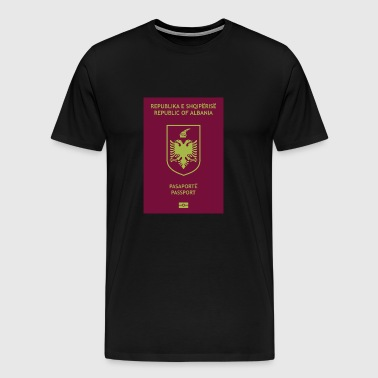 Albanian passport - Men's Premium T-Shirt