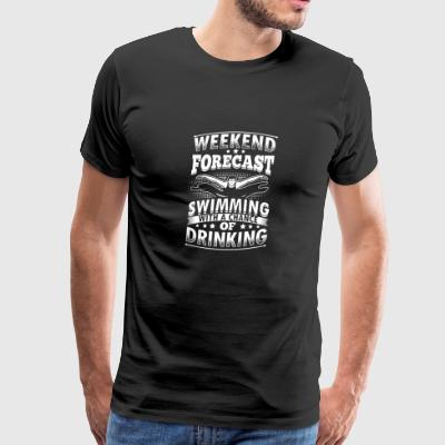 Funny Swim Swimming Shirt Forecast - Men's Premium T-Shirt