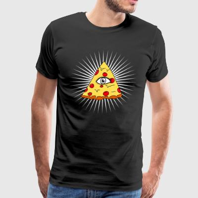 illuminati pizza All Seeing eye food Pyramide illu - Men's Premium T-Shirt