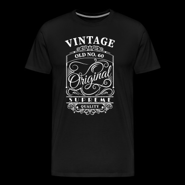 vintage old no 60 - Men's Premium T-Shirt