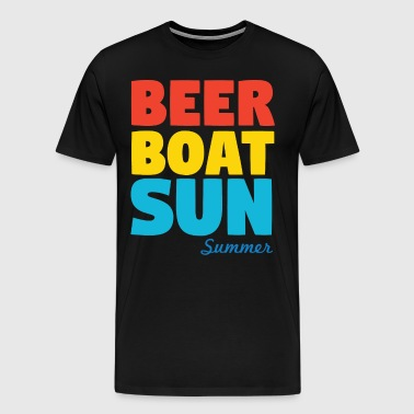 Beer Boat Sun Summer - Men's Premium T-Shirt