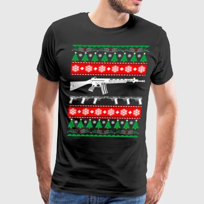 AR 15 AR15 Ugly Christmas Sweater - Men's Premium T-Shirt