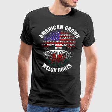American Grown Welsh Roots - Men's Premium T-Shirt