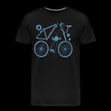 Bike parts - deconstructed grunge look - Men's Premium T-Shirt