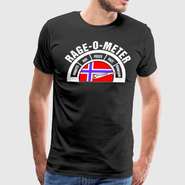Rage O Meter Norwegian - Men's Premium T-Shirt