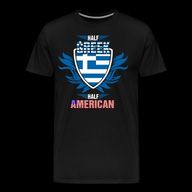 Half Greek Half American - Men's Premium T-Shirt
