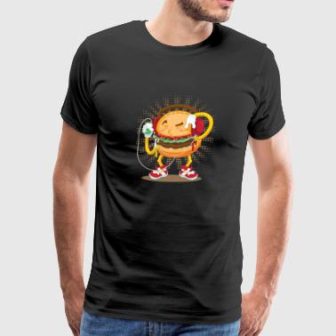 burger with music - Men's Premium T-Shirt