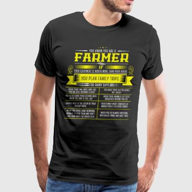 Farmer Plans A Trip - Men's Premium T-Shirt
