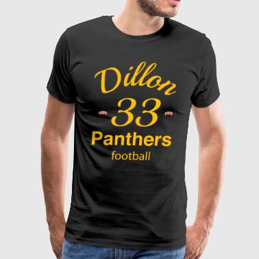 Dillon Panthers Football Shirt # 33 UNISEX T-shir - Men's Premium T-Shirt