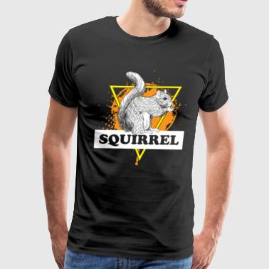 Squirrel gift animal hazelnut tree tail - Men's Premium T-Shirt
