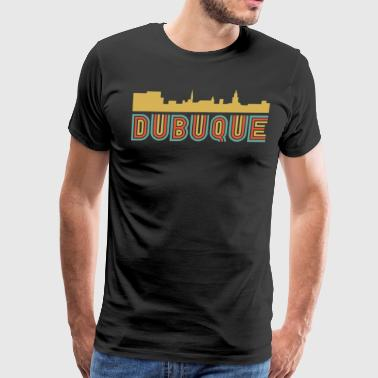 Vintage Style Dubuque Iowa Skyline - Men's Premium T-Shirt