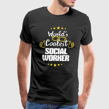 World's Coolest Social Worker Shirt - Men's Premium T-Shirt