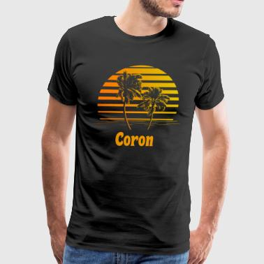 Coron Philippines Sunset Palm Trees - Men's Premium T-Shirt