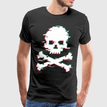 Crossbone Glitch effect - Men's Premium T-Shirt
