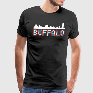 Red White Blue Buffalo New York Skyline - Men's Premium T-Shirt