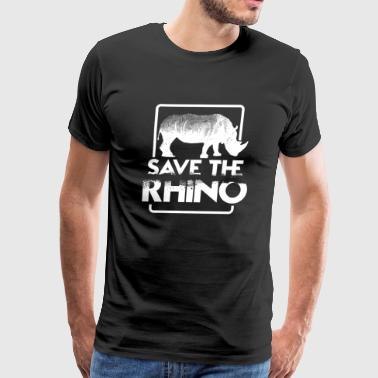 Save the Rhino gift life animal fight rhino day - Men's Premium T-Shirt