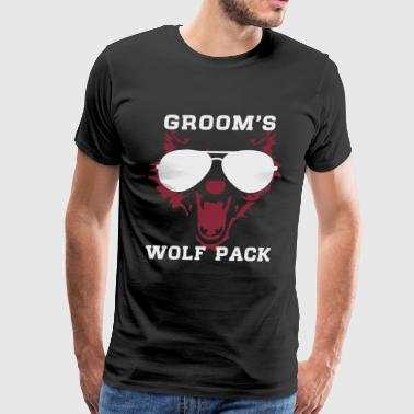 Groom's wolf pack wild bachelor party - Men's Premium T-Shirt