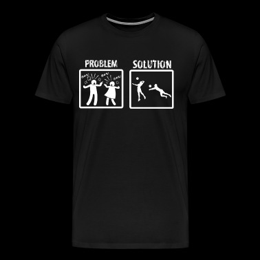 Problem Solution Beach Volleyball - Men's Premium T-Shirt