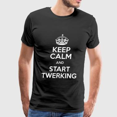 Keep calm and start twerking - Men's Premium T-Shirt
