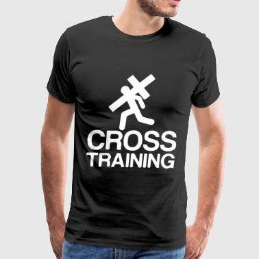 New Mens Printed Cross Training Jesus God Love Chr - Men's Premium T-Shirt