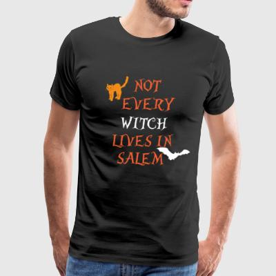 Halloween Not Every Witch Lives In Salem Shirt - Men's Premium T-Shirt