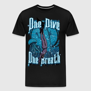 One Dive One Breath Freediving - Men's Premium T-Shirt