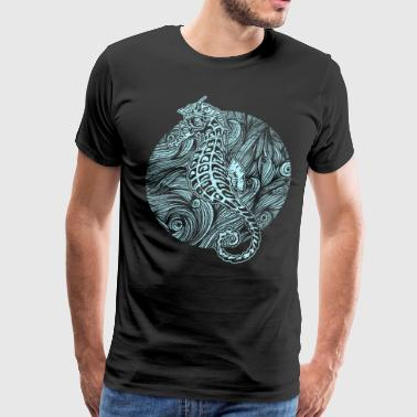 Sea horse waves - Men's Premium T-Shirt