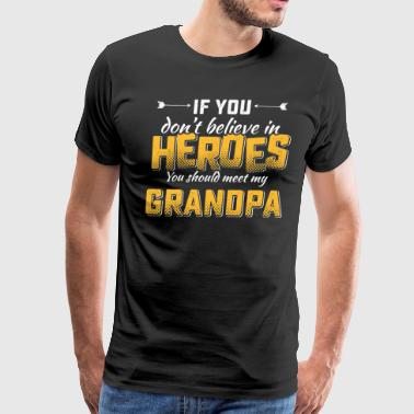 Grandpa hero tshirt - Men's Premium T-Shirt