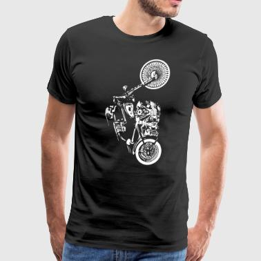Motorbike Skull SOA Skeleton Ride Bike Men - Men's Premium T-Shirt