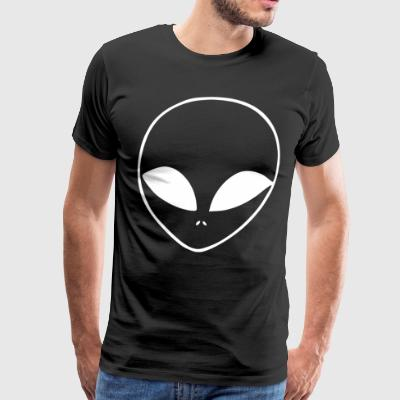 ALIEN T SHIRT UFO FACE HIPSTER HATE LOVE SWAG BLOG - Men's Premium T-Shirt