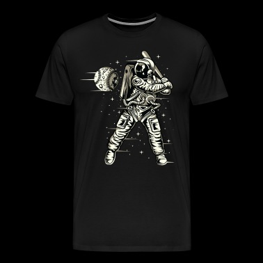 Astronaut. Astronaut playing Baseball in the space - Men's Premium T-Shirt