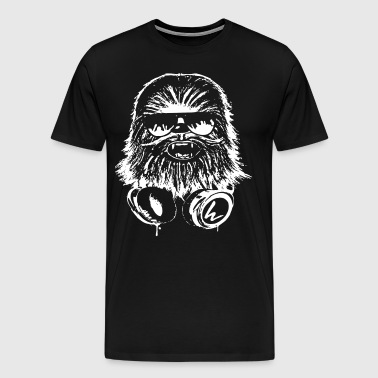 Dj Chewbacca Chewie Funny Star Wars Dubstep Wookie - Men's Premium T-Shirt