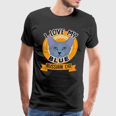 Love Blue Russian Cat Shirt - Men's Premium T-Shirt