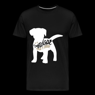 Dogs from the shelter animal rescuer - Men's Premium T-Shirt