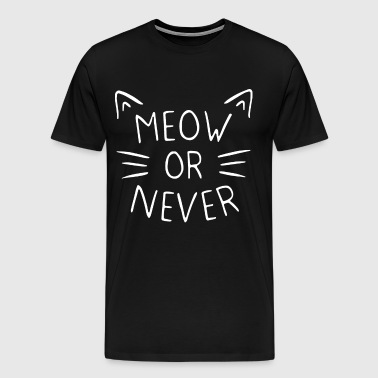 Meow or never crazy cat lady kitty - Men's Premium T-Shirt