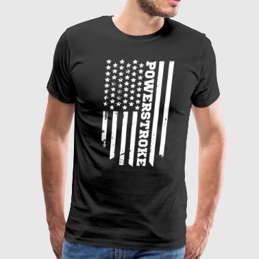 power stroker american flag t shirts - Men's Premium T-Shirt