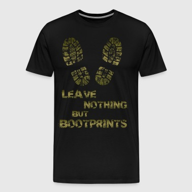 BOOTPRINTs HIKING TEE ADDICT - Men's Premium T-Shirt