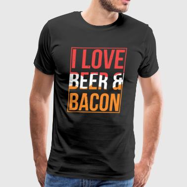 BBQ Tshirt I love Bacon and Beer Funny Gift Meal - Men's Premium T-Shirt