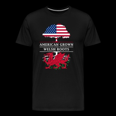 American Grown with Welsh Roots Wales Design - Men's Premium T-Shirt
