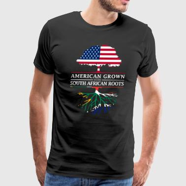 American Grown with South African Roots South Africa Design - Men's Premium T-Shirt