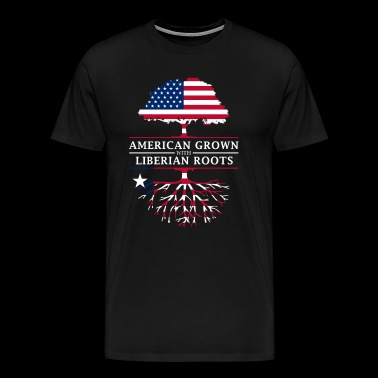 American Grown with Liberian Roots Liberia Design - Men's Premium T-Shirt