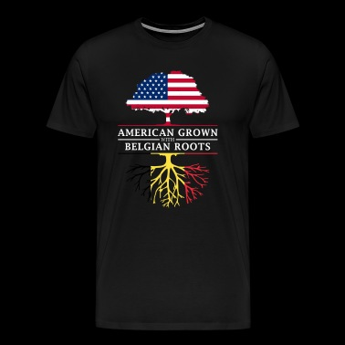 American Grown with Belgian Roots Belgium Design - Men's Premium T-Shirt